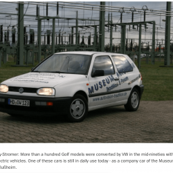 Golf MK3 Citystromer Electric Vehicle Article0