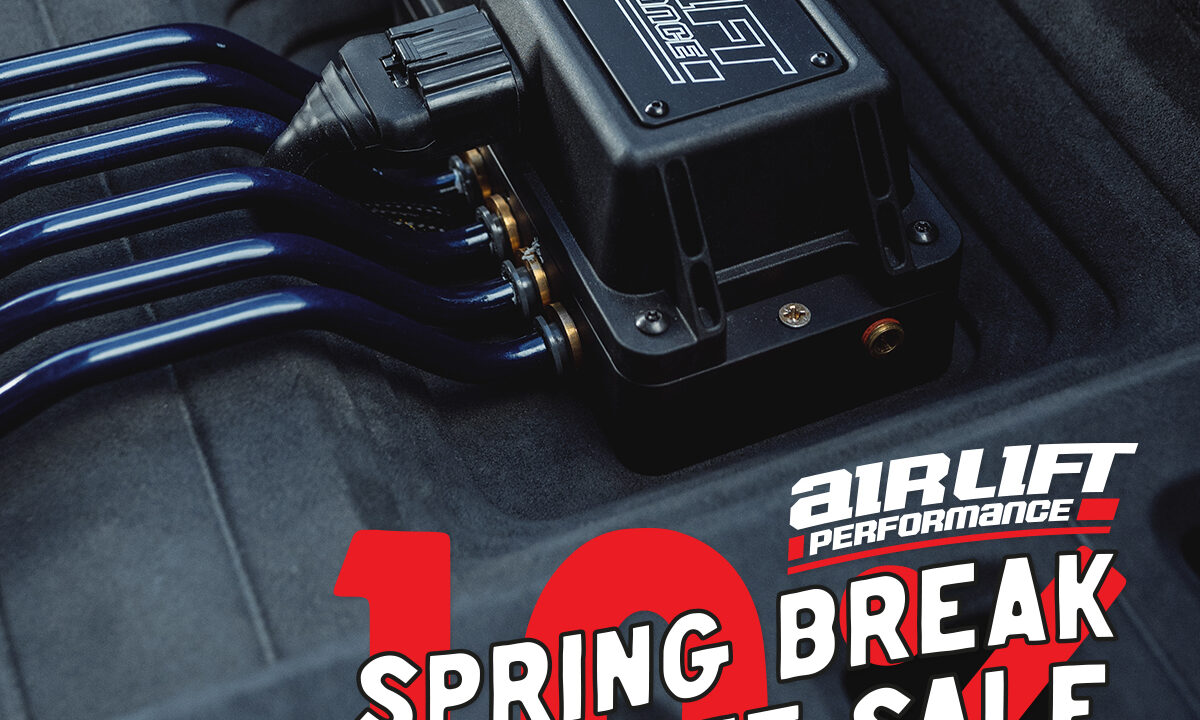 Just a few days remain in the Air Lift Performance Spring Break Sale